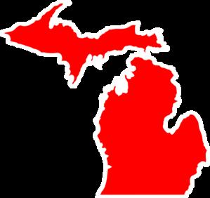 Michigan clipart Art Outline  com Michigan