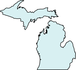 Michigan clipart Art Teal  com Michigan