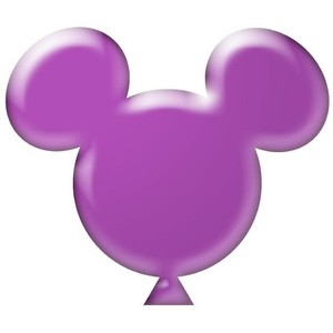 Mickey Mouse clipart balloon Purple Polyvore 3 Disney Balloon