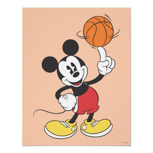 Mickey Mouse clipart basketball #11