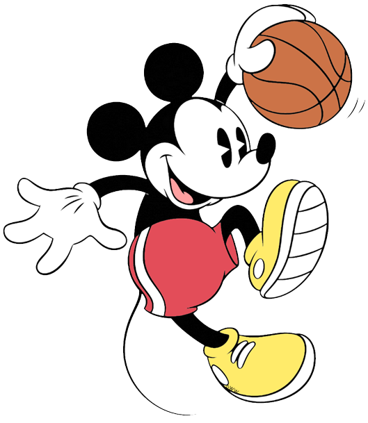 Mickey Mouse clipart basketball #12
