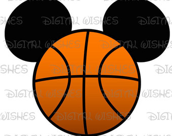Mickey Mouse clipart basketball #13