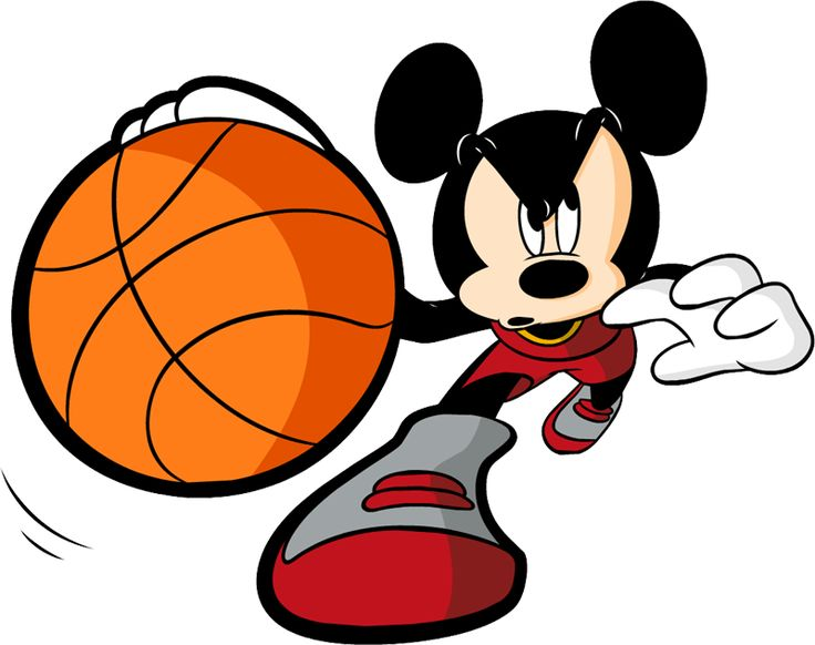 Mickey Mouse clipart basketball #6
