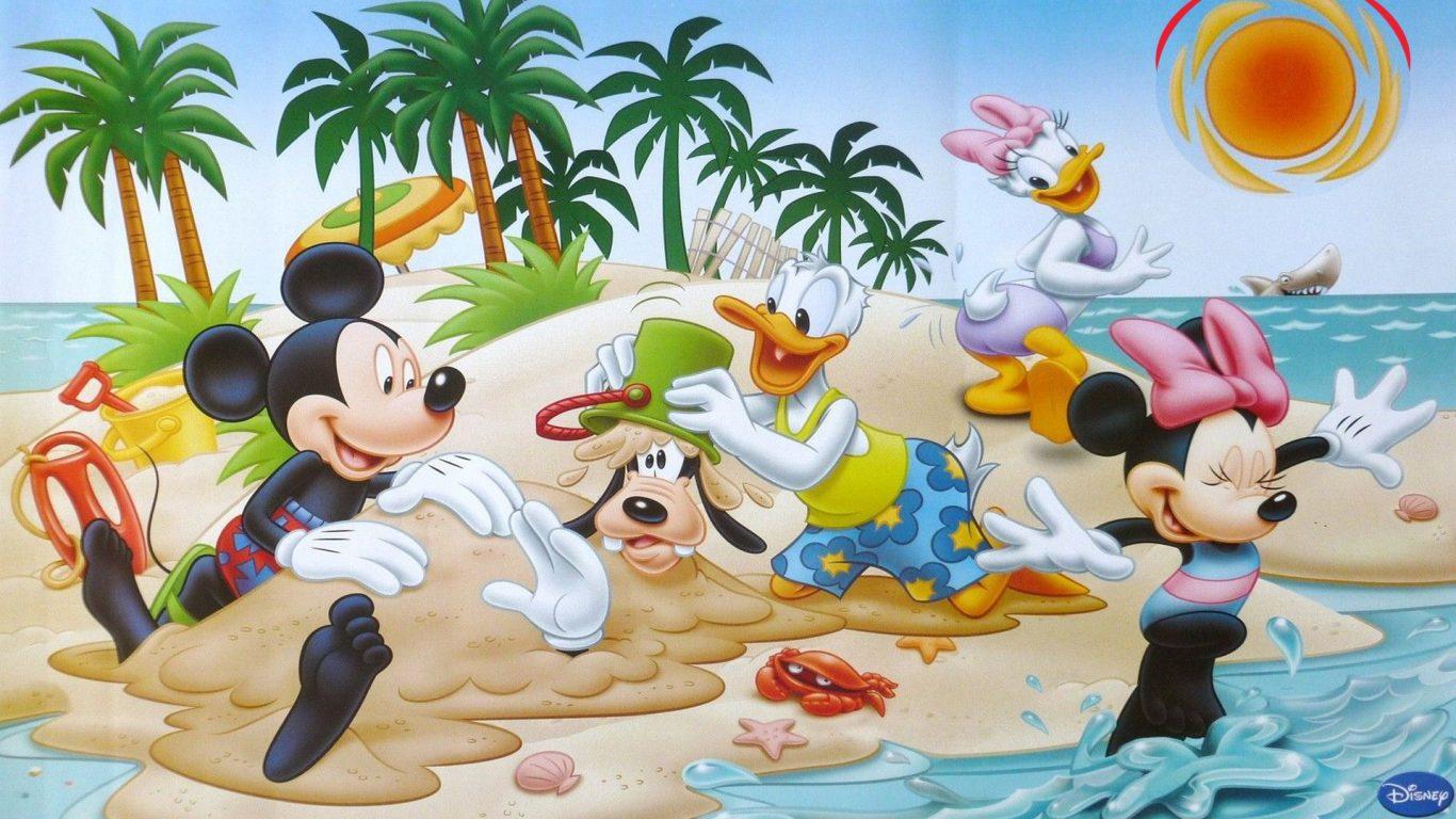 Mickey Mouse clipart beach #14