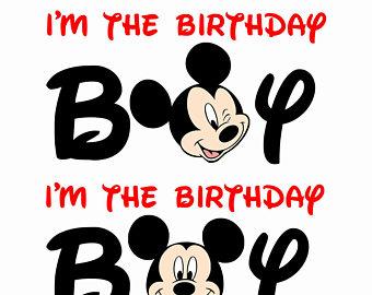 Mickey Mouse clipart birthday boy #6