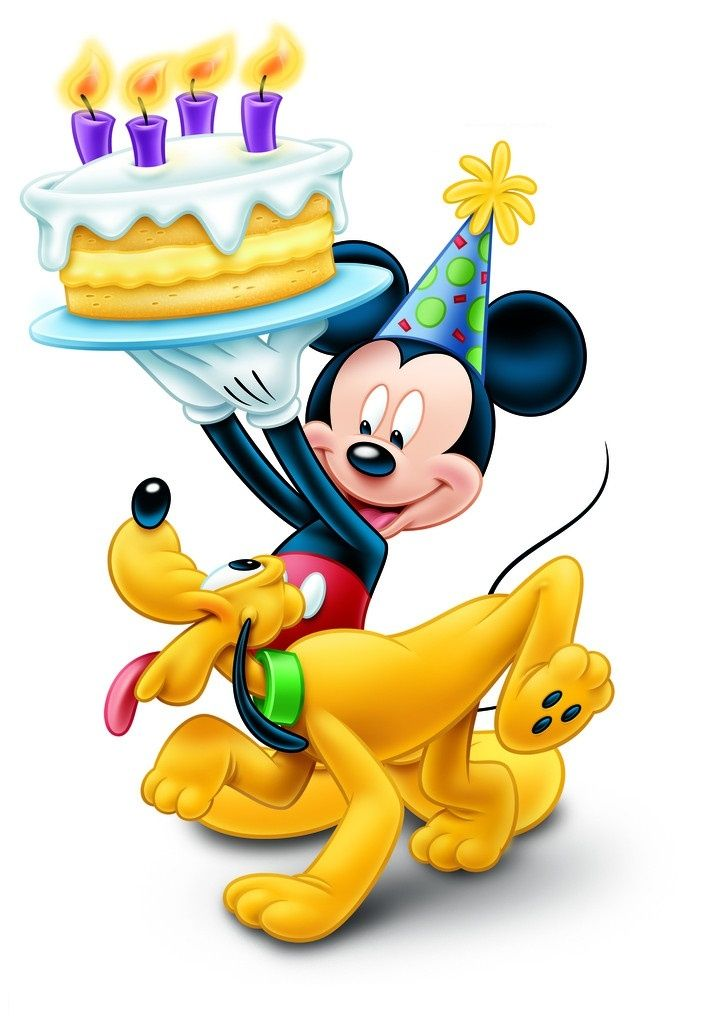 Mickey Mouse clipart birthday cake Png con  best birthday