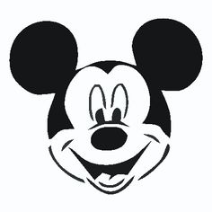 Mickey Mouse clipart black and white Mouse mickey Vinyl Face Mickey