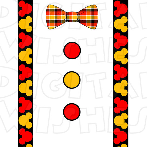 Tie clipart mickey mouse DOWNLOAD INSTANT suspenders Mouse art