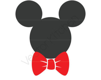Tie clipart mickey mouse Bow Download Template Etsy Instant