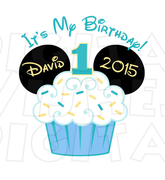Mickey Mouse clipart cupcake #7