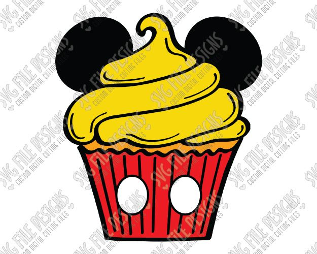 Mickey Mouse clipart cupcake #10