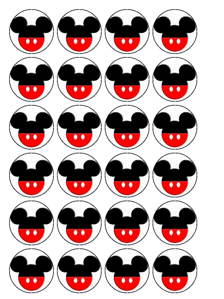 Mickey Mouse clipart cupcake #15