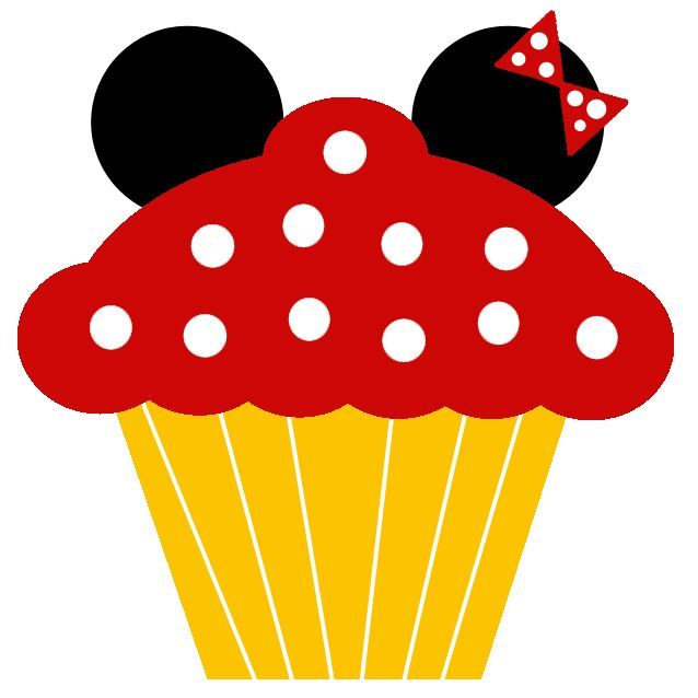 Mickey Mouse clipart cupcake #2