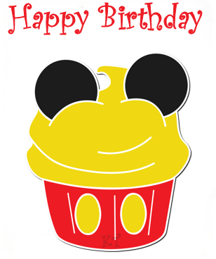 Mickey Mouse clipart cupcake #3