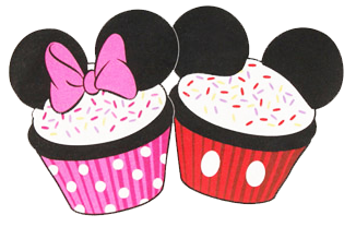 Mickey Mouse clipart cupcake #1