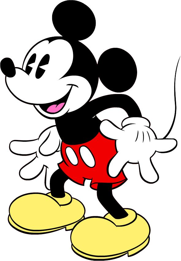 Mickey Mouse clipart cute #6