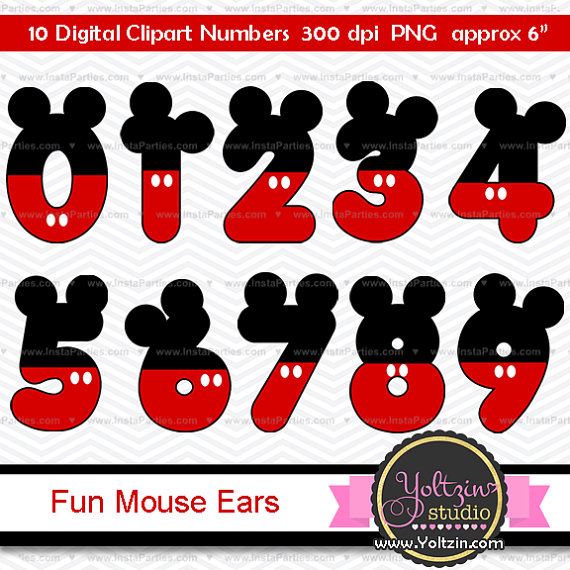 Mickey Mouse clipart cute #11