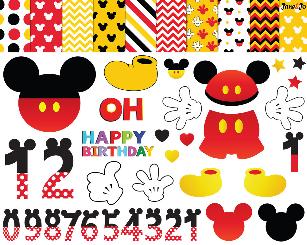 Mickey Mouse clipart digital  mouse mouse Clipart numbers