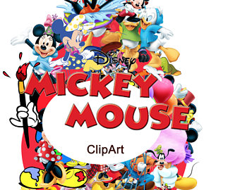 Mickey Mouse clipart digital Image painting clipart Mickey Mouse