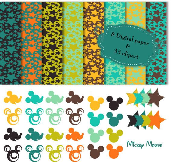 Mickey Mouse clipart digital On digital YourEtsyBanner 18 Clip