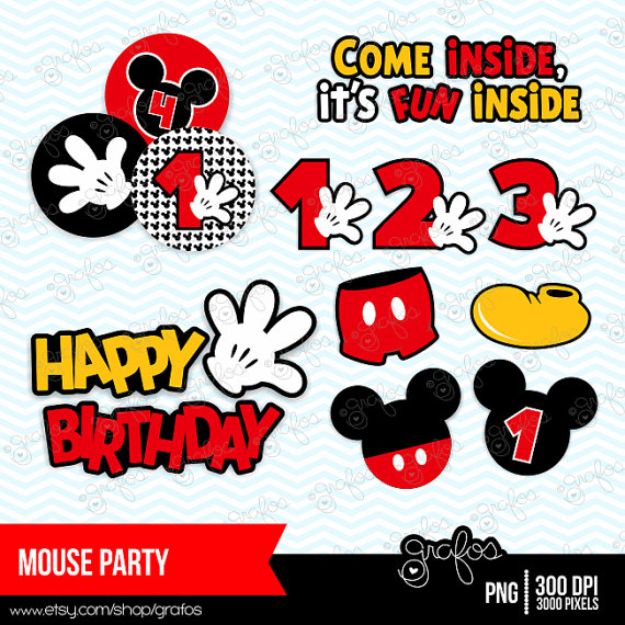 Mickey Mouse clipart digital Mickey Mickey Clipart Clip Instant