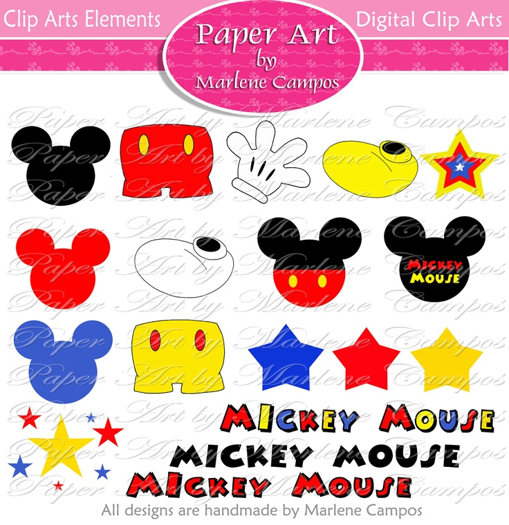 Mickey Mouse clipart digital Pinterest Clip best party mouse