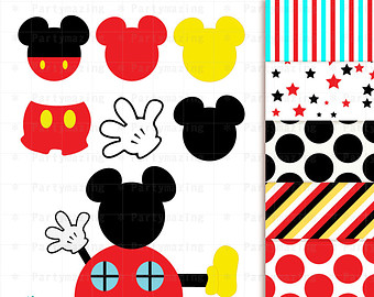 Mickey Mouse clipart digital Clubhouse clipart Bright Art Download