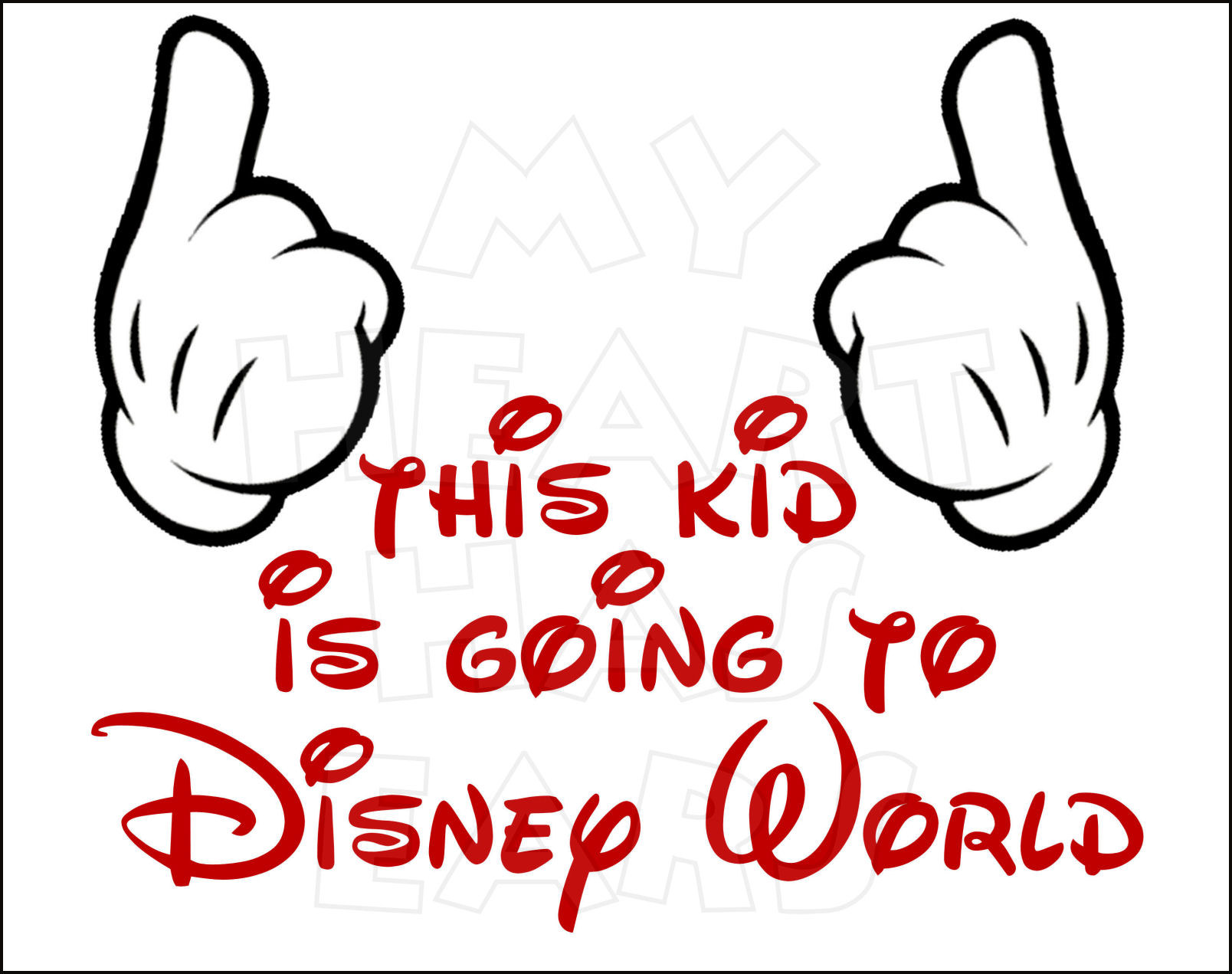 Disneyland clipart florida vacation Pointing ~ kid Ears is