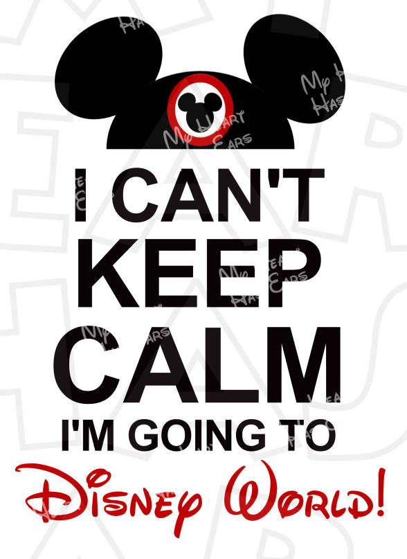 Mickey Mouse clipart disney world Mouse can't I'm  calm