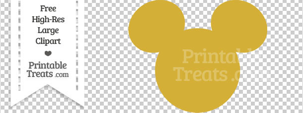 Mickey Mouse clipart gold Mouse Head Treats Gold Mickey