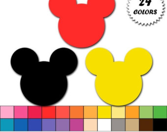 Mickey Mouse clipart gold Mickey digital icon commercial OFF