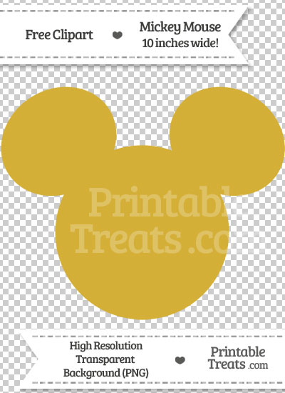 Mickey Mouse clipart gold Mouse Gold Clipart Gold Mickey