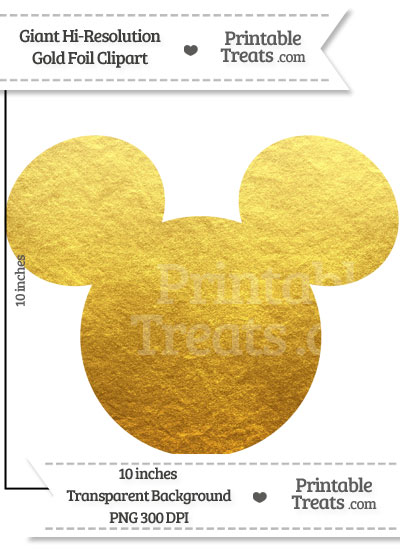 Mickey Mouse clipart gold Mickey Gold Mouse Foil Giant