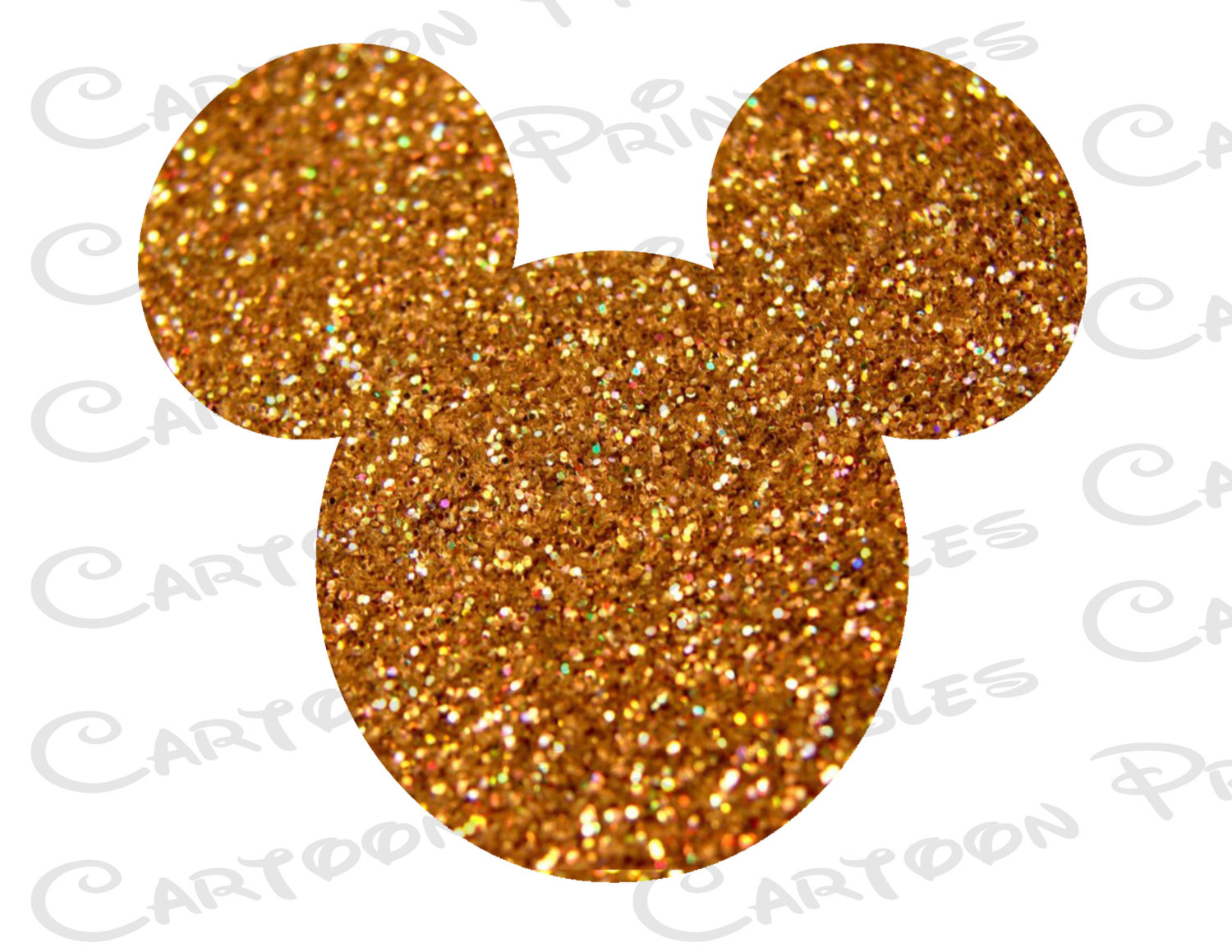 Mickey Mouse clipart gold Digital Bling Printable is a