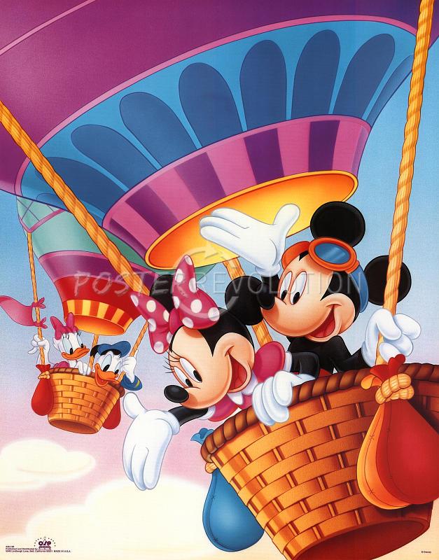 Mickey Mouse clipart hot air balloon #14