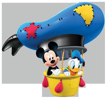 Mickey Mouse clipart hot air balloon #4