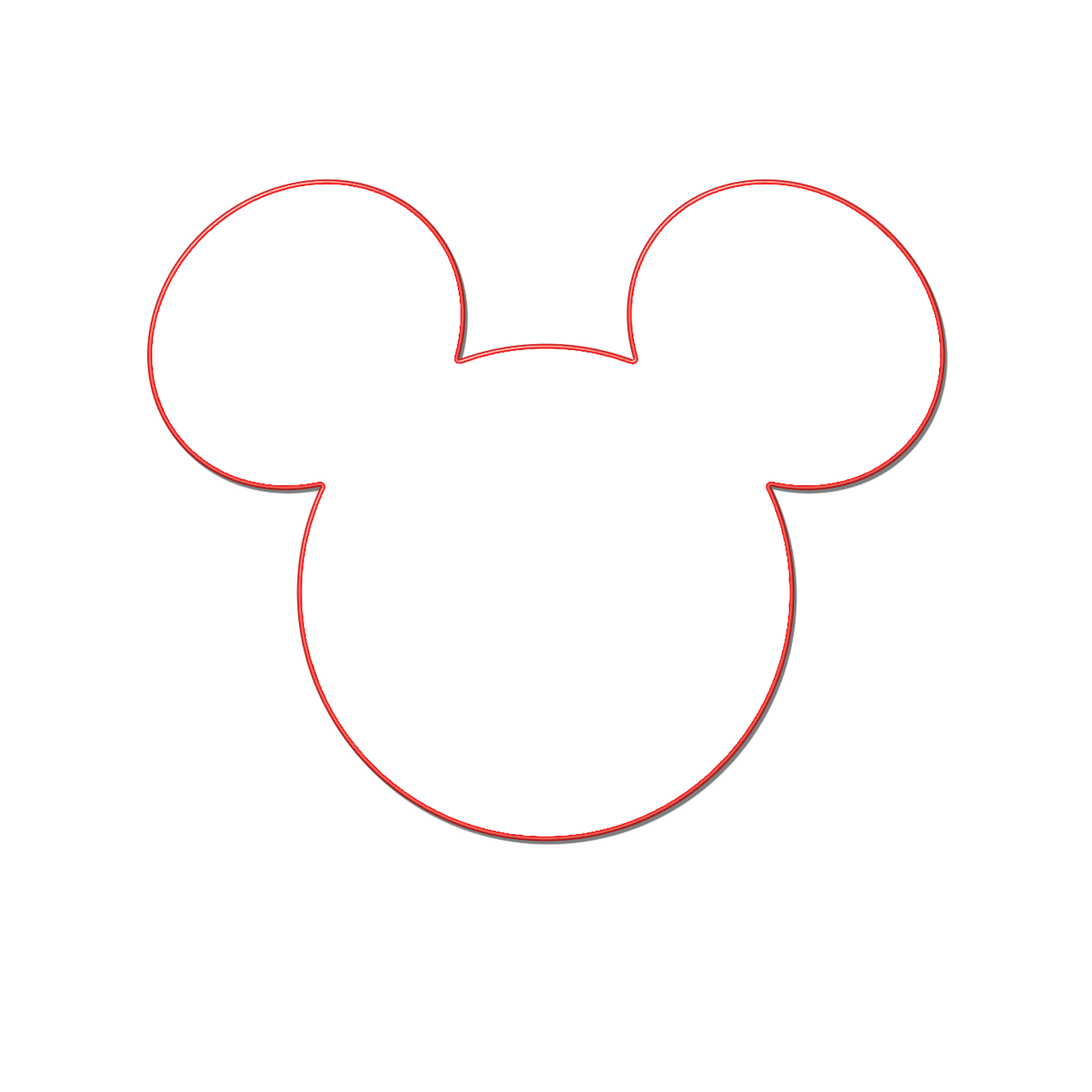 Shadow clipart mickey mouse #2