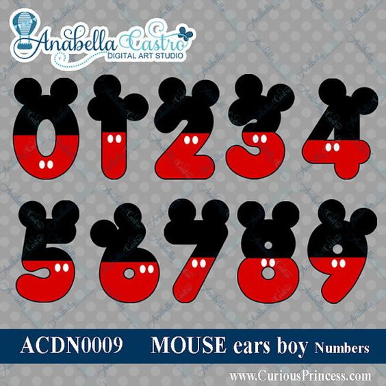 Mickey Mouse clipart mickey ear And Mouse ACDigitalArtStudio INSTANT clip
