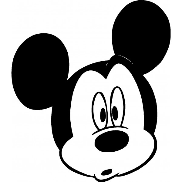 Mickey Mouse clipart micky mouse Black Clipart Mickey  Panda