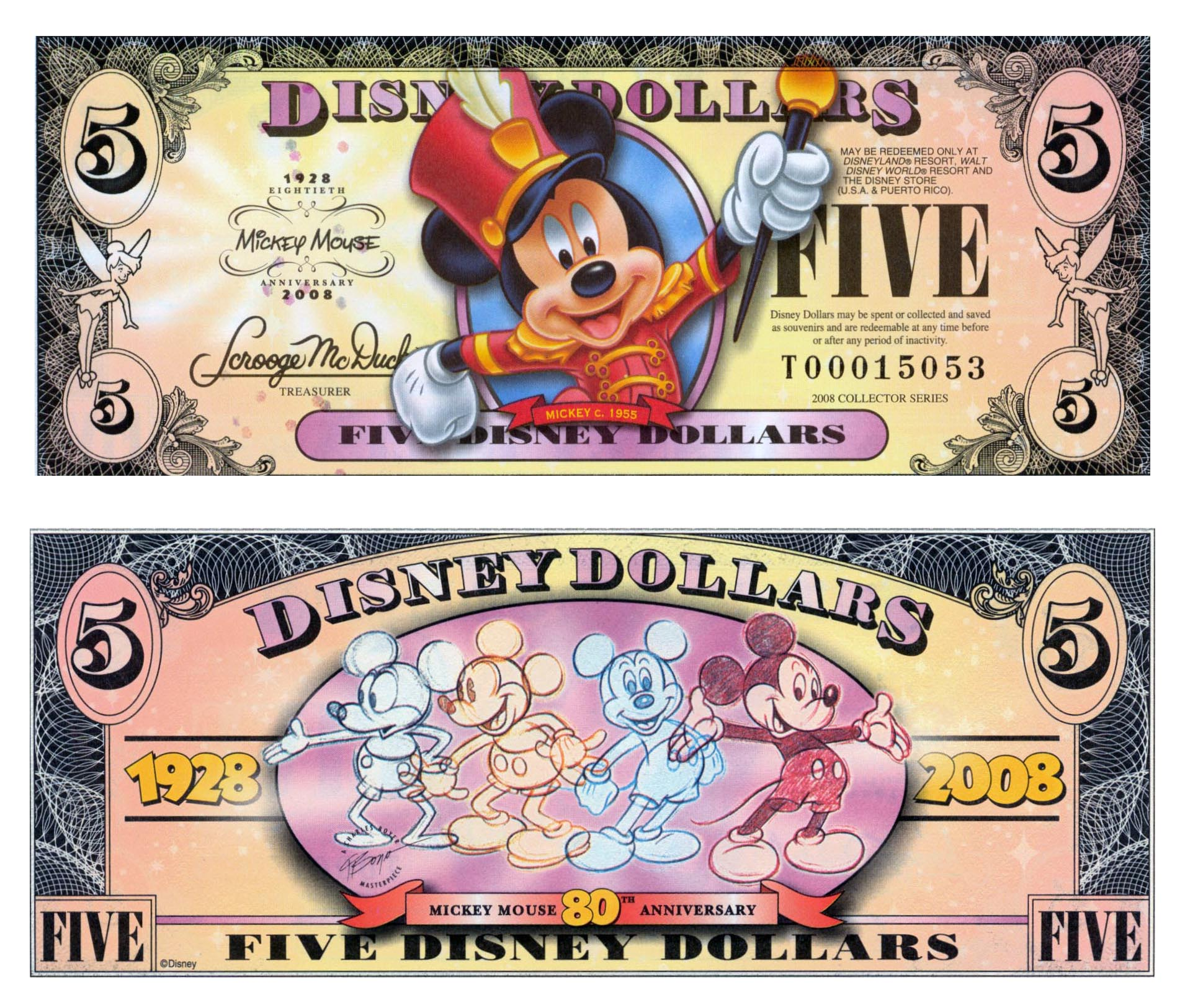 Mickey Mouse clipart money Through 2008 Disney the Note