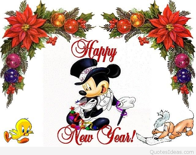 Mickey Mouse clipart new year Mickey  color Happy Clipart