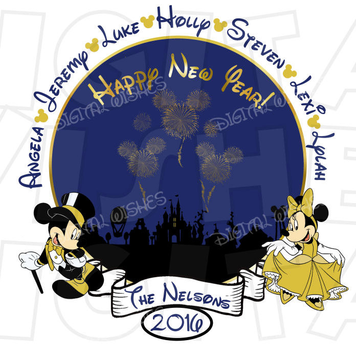 Mickey Mouse clipart new year And Years Heart Personalized Vacation