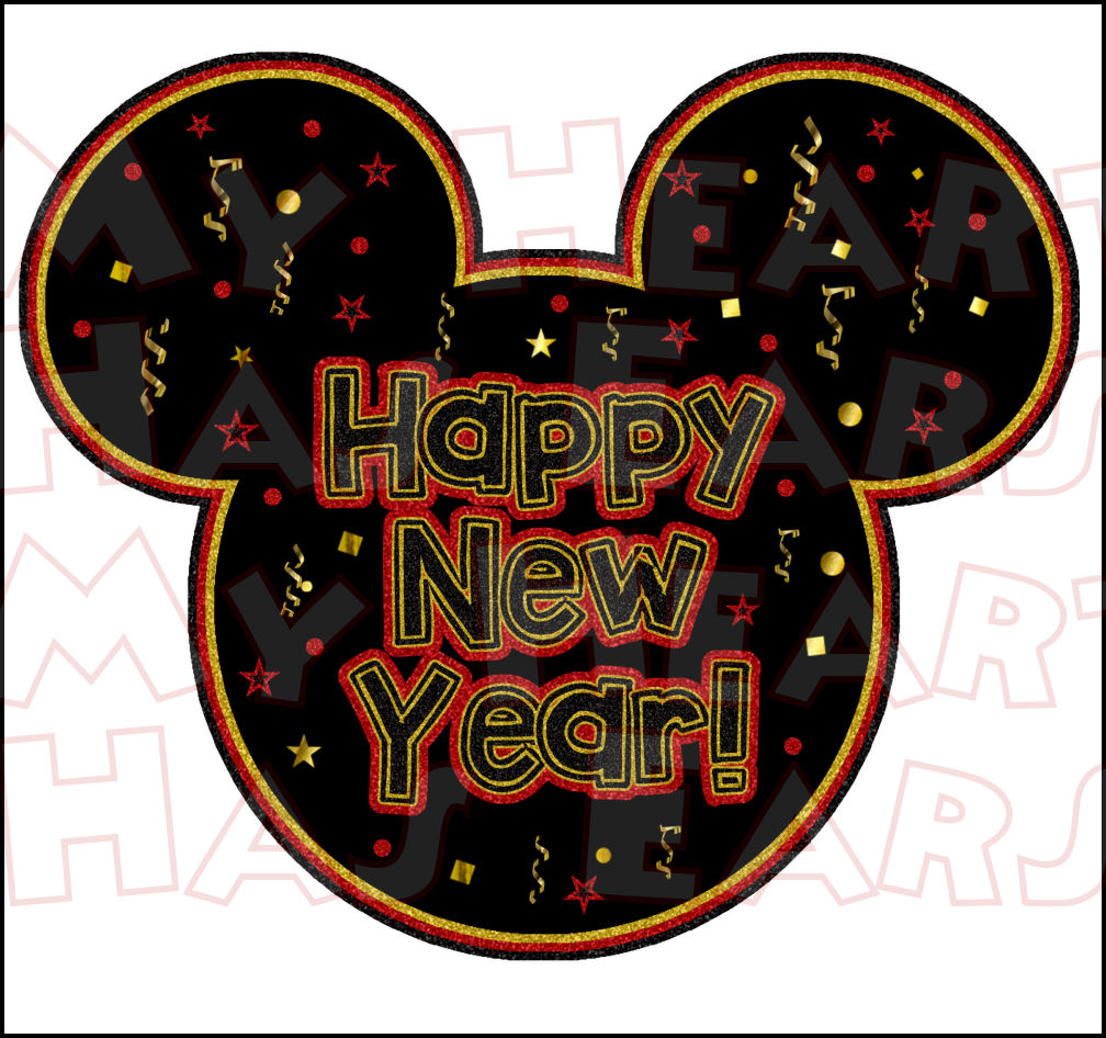 Holydays clipart mickey mouse Years Year Mickey art INSTANT