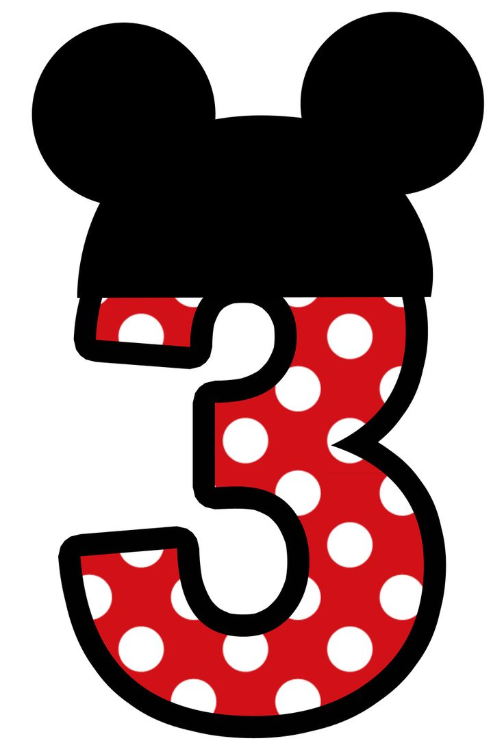 Number clipart minnie mouse Clipart on 2 numbers kid