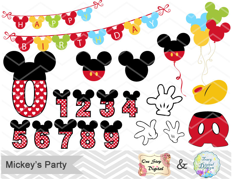 Mickey Mouse clipart number 2 #8