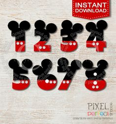 Mickey Mouse clipart number 4 Art project scrapbooking Mouse DOWNLOAD