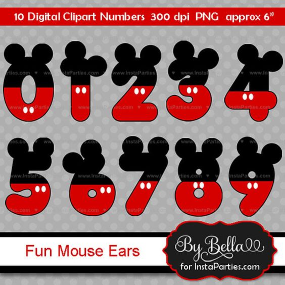 Mickey Mouse clipart number 4 Clipart for clip ears SALE