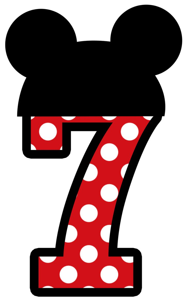 Mickey Mouse clipart number 4 Number Mickey 4 clipart 4