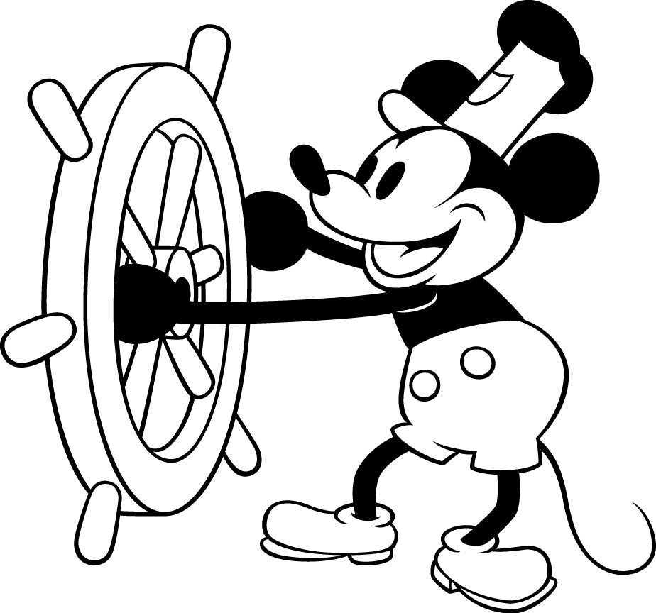 Classical clipart mickey mouse And and christmas mouse black