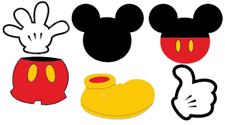 Shoe clipart mickey mouse #1